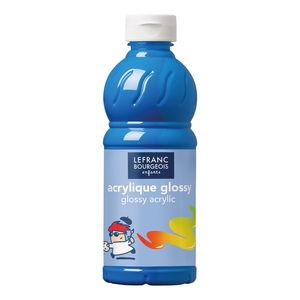 Acrylfarbe glänzend Glossy, 500 ml primärblau