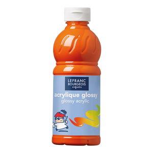 Acrylfarbe glänzend Glossy, 500 ml orange