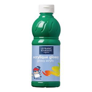 Acrylfarbe glänzend Glossy, 500 ml leuchtendgrün