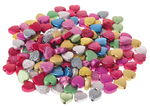 Deko-Schmuckperlen, 160 Stück Herzen