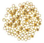 Knijpkralen metaal, goudkleur (2 mm) 100 stuks