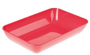 Materiaalbak, kunststof, 23 x 15 cm, rood