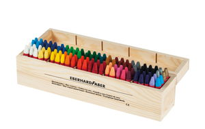Wachskreiden in Holzbox, 100er Set