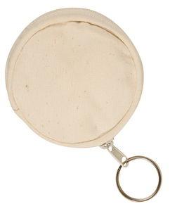 Geldbuidel 'Rond' (8 cm), naturel, per stuk