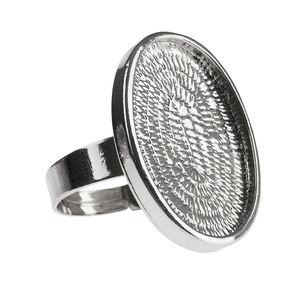Bague en métal, ovale (20 x 25 mm)