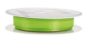 Taftband mit Webkante (10 mm), 10 m apfelgrün