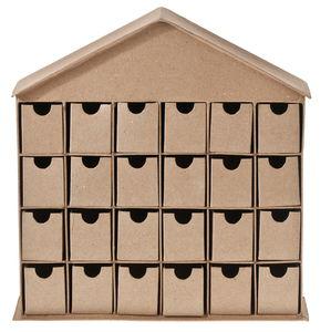 Calendrier de l'Avent en carton -Maison- ,