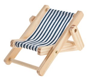 Deko-Liegestuhl, blau/weiß (10 cm)