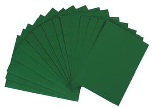 Dubbele kaarten A6, 5 stuks, groen