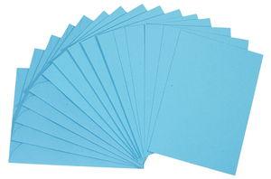 Doppelkarten, 5 Stück hellblau      (DIN A6)