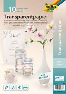 Transparant papier (A4) wit, 10 vel