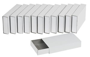 Boîtes d'allumettes en carton, 12 pièces