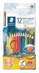 Lápices acuarelables 12 colores y pincel