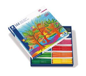 STAEDTLER viltstiften, 144 stuks in 12 kleuren