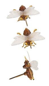 Bijen prikkers (2,2 x 2,7 cm) 3 stuks