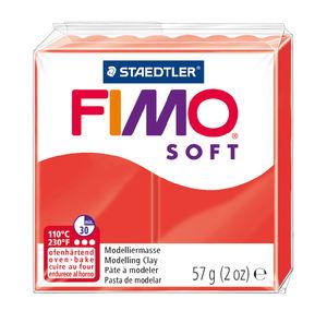Pâte à modeler Fimo Soft , rouge indien