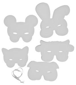 Máscaras de papel- Animales (con goma) 10 ud.