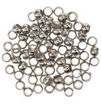 Quetschperlen Metall, 50 Stück silberfarben (3 mm)