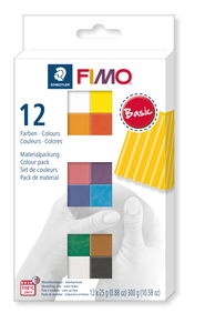 Fimo soft Materialpackung, 12 Halbblöcke