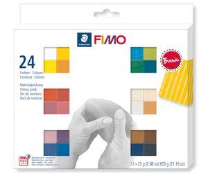 Fimo soft boetseerklei assortiment (24 x 25 g)