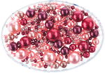 Renaissance Perlen Mix, 65 g rosa/rot mix