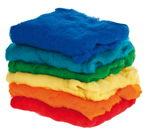 Schapenwol/fleeche, totaal 1200 gram, 6-kleuren