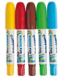 Crayons pour fenêtres edding, 5 pièces