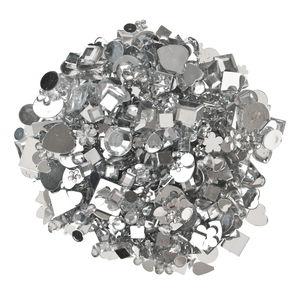 Surtido piedras strass acrílicas, 1000 ud (5-14mm)