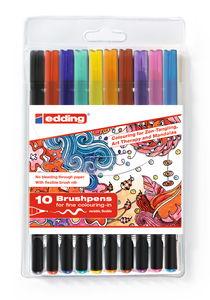 Feutres brosses de couleur Edding 1340,