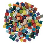 Mosaik Fantasy Glas, 500 g bunt-mix (10 x 10 mm)