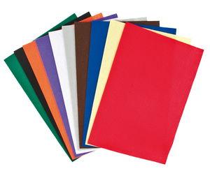 Bastelfilz, 10 Platten farbig (1,5 x 450 x 700 mm)