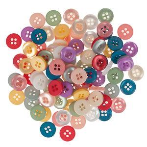 Assortimento di bottoni colori assortiti 100 pezzi