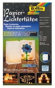 Lichttüten, 5 Stück Blanko (190 x 115 x 70 mm)