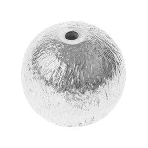 Perle relief en métal -Bille- , 10 mm (ø)