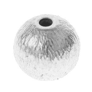 Perle relief en métal -Bille- , 6 mm (ø)