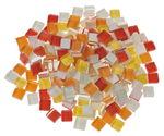 Mosaik Softglas, 200 g gelb/rot-mix (10 x 10 mm)
