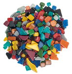 Glitter-Mosaik Softglas Polygonal, 500 g Buntmix