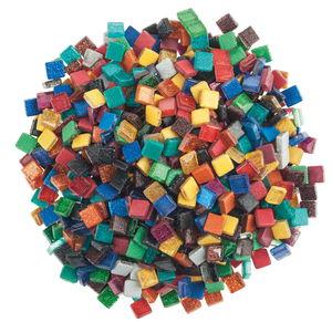 Mosaico Softglas glitter, 500g mix variopinto