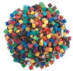 Mozaïek softglas 'Glitter', bont gekleurd, 500 g