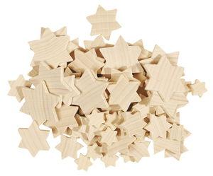 Lote de estrellas de madera, 70 ud.