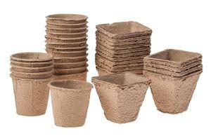 Pots biodégradables assortis , 18 pots ...,