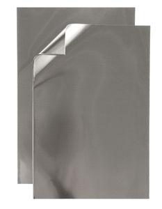 Aluminium vellen (30 x 20 cm) zilver, 5 vel
