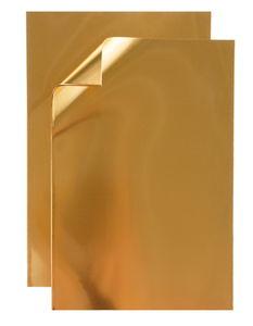 Aluminium vellen (30 x 20 cm) goud, 5 vel