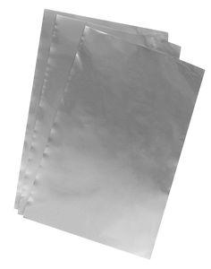 Ciseleerfolie (185 x 295 mm) zilverkleur, 3 vel