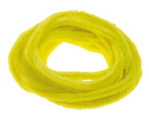 Fils chenille , Diam. 8 mm..., jaune citron