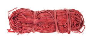 Raffia natuurvezel, 50 g rood