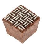 Kunststof stempelblok - Basket Weave (4,2x4,2 cm)