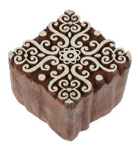 Blockstempel Kunststoff - Baroque (5,3x5,3cm)