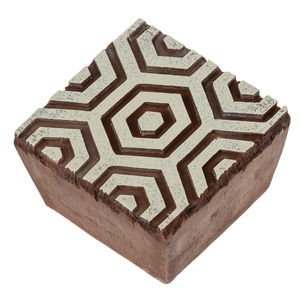 Kunststof stempelblok - Hex Honeycomb (6 x 6 cm)