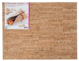 Kurkleer, strepen (45 x 35 cm)